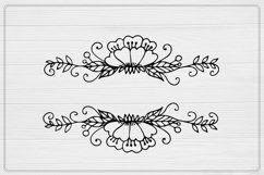 Flower monogram SVG, Split Monogram SVG, Fall SVG , Product Image 2