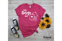 Fall Mockup   Bella Canvas 3001 T-shirt   Heather Rasberry Product Image 1