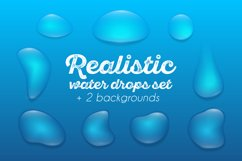 Realistic waterdrops set Product Image 1
