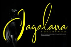 Jagalana   Signature Typeface Product Image 1