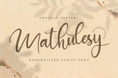 Mathulesy - Handwritten Font Product Image 1