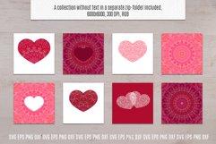Heart SVG Valentines Bundle   Mandala Pattern Product Image 3