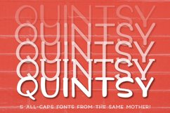 Quintsy: a five-font set from the same mother