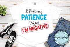 Patience Tested Negative SVG Product Image 2