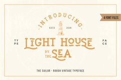 LightHouse - Vintage Sailor Rough Typeface Product Image 2