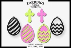 Easter Earrings, Silhouette, Cricut, Cut File, SVG DXF PNG Product Image 1