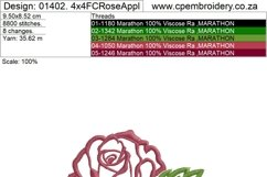 Two Roses Applique Design Product Image 5