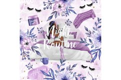Bedtime digital paper, nightime routine, girly papers Product Image 6