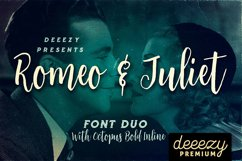 Romeo & Juliet Font Duo Product Image 1