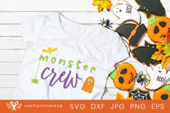 Monster Crew Halloween Svg Cut File Bat Spider Ghost Clipart Product Image 2