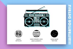 Back to the 90's. Hand Drawn Icons Product Image 3