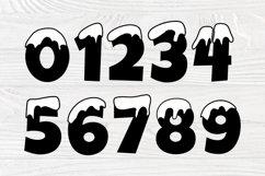 Snow Font SVG, Winter Svg, Christmas Alphabet Clipart Product Image 5