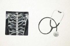 Watercolor Medical Clipart, Doctor Clipart, Health Clipart Product Image 4