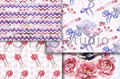 Planner Girl Watercolor Paper, Graphics Resources, Seamless Product Image 5