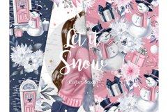 Winter digital paper, Christmas digital paper, seamless Product Image 4