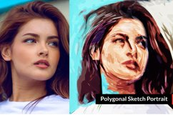 Polygonal Sketch Art PS Action Product Image 2