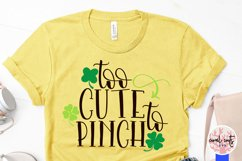 Too cute to pinch - St. Patrick's Day SVG EPS DXF PNG Product Image 3
