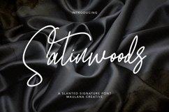 Satinwoods Slanted Signature Font Product Image 1