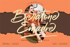 Beratone Emadre - Modern Brush Font Product Image 1