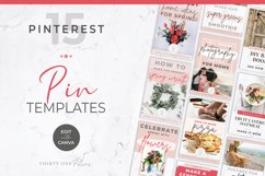 Pinterest Templates for Canva | Pin Templates | Pink & Grey Product Image 1