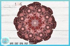 3D SVG Layered Design | Flower Mandala SVG file Product Image 3
