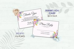 Wedding Invitation Set #1 Watercolor Floral Flower Style Product Image 4