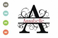 Split Letters A-Z SVG, Alphabet Letters A-Z Product Image 1
