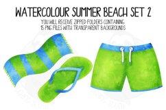 Watercolor Summer Beach Clip Art Set 2 Product Image 4