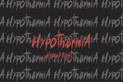 Hypotermia Display Font Product Image 2