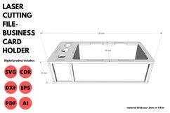 Business Card Holder - SVG - Laser cutting File Product Image 2