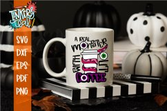A Real Monster Without Coffee Halloween SVG Cut File Product Image 1