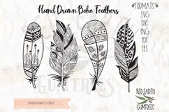 Boho feathers bundle, Tribal feathers in SVG,DXF,PNG, EPS Product Image 1