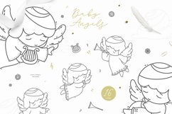 Baby Angels - Cute Baby Clipart Product Image 2