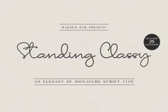 Standing Classy Script Product Image 1