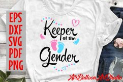 Keeper Of The Gender Svg Gender Reveal Svg Pregnancy Svg Product Image 2