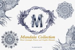 Hand Drawn Mandala & Floral Zentangle Collection Product Image 1