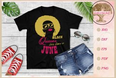 Black queens are born in June birthday t shirt design Product Image 1