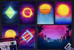 80s Retro Watercolor backgrounds. Product Image 2