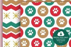 Christmas Dog Digital Papers Product Image 2