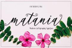 matania script Font Product Image 1