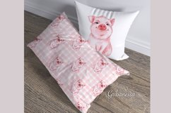 Pig and pattern. Watercolor Product Image 2