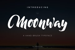 Moonway - A Hand Brush Typeface Product Image 1