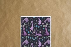 Seamless watercolor pattern with easter bunnies Product Image 6