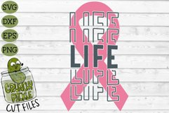 Breast Cancer Ribbon Life SVG File Product Image 2