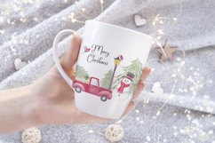 Farm fresh christmas trees, Red old car, Snowman clipart Product Image 6