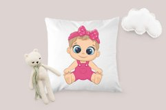 Cute baby girl and baby boy, EPS, PNG, JPG, 300 DPI Product Image 3
