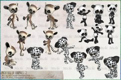 Michi Bag Of Animals 2, Clip Art, Sublimation Product Image 2