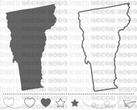 VERMONT svg, State svg Files, Vermont Vector, United States svg, State Clip Art, Vermont Cut File, Vermont State Outline Product Image 1
