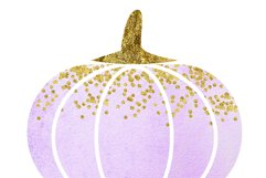 WATERCOLOR pumpkin clip art, Orange Pumpkin digital clipart, Pink Pumpkin clipart, Fall Pumpkin digital clip art, Watercolor Pastel Pumpkins Product Image 4