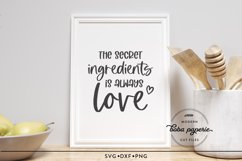 The Secret Ingredient is Always Love SVG Product Image 6